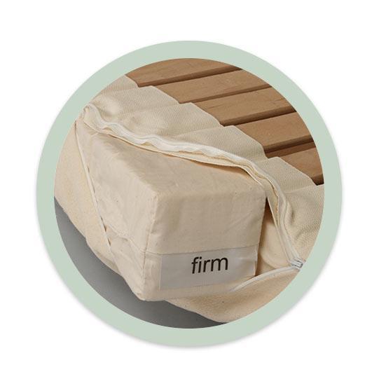 Châssis latéral avec blocs de latex en 2niveaux de fermeté